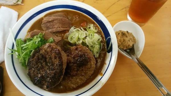 「和[牛]タン先カレー S+α」@MENYA 食い味の道有楽の写真