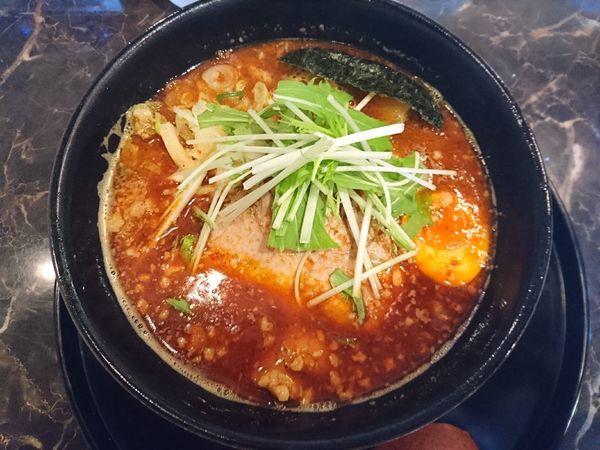 「辛らーめん(太麺)」@めん処酒家 咲はるの写真