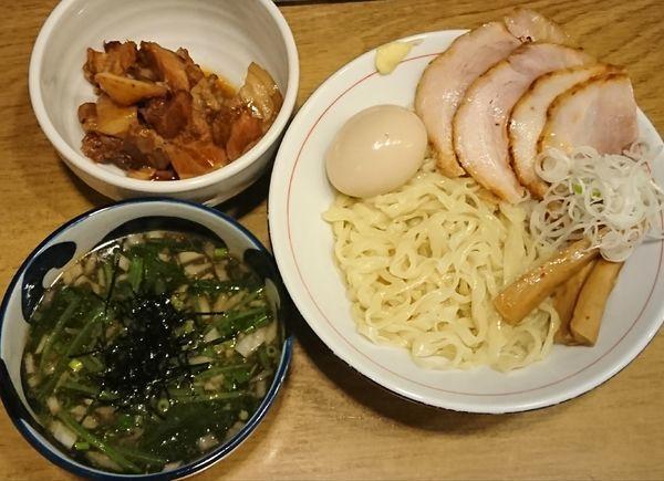 「【火曜限定】喜多方つけ麺(!?)¥800+ヘタ肉¥50」@麺処 慶の写真