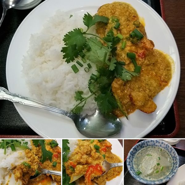 「鶏肉と卵のカレー炒め  900円」@ソンポーンの写真