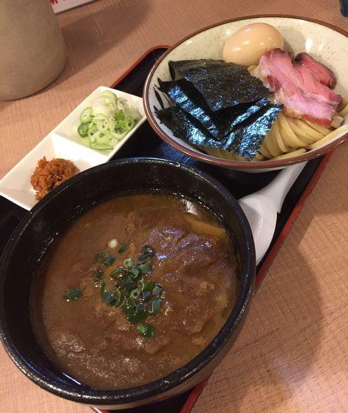 「渡り蟹の濃厚つけ麺(特製バージョン)」@大勝軒てつの写真