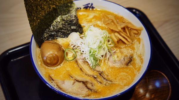 「焼味噌+チャーシュー玉子トッピング」@麺や 雅 埼玉川口店の写真