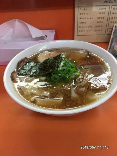 「ワンタン麺醤油」@支那そば あおばの写真