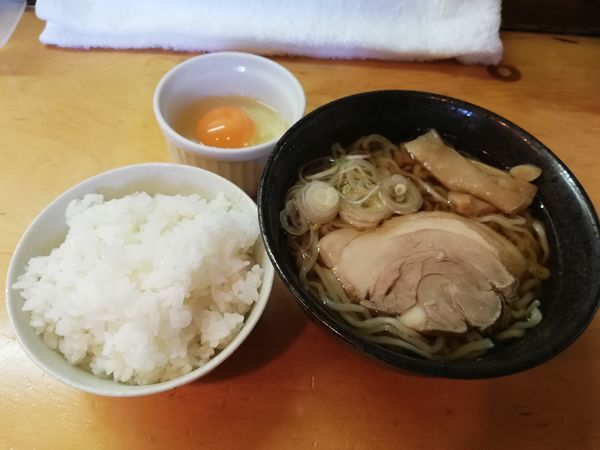 「朝食セット」@中華そば 雲ノ糸の写真
