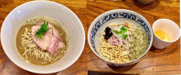 「濃厚 瀬戸内煮干しそば 醤油ver.  & 牡蠣と秋刀魚節の和え」@中華そば 先崎の写真