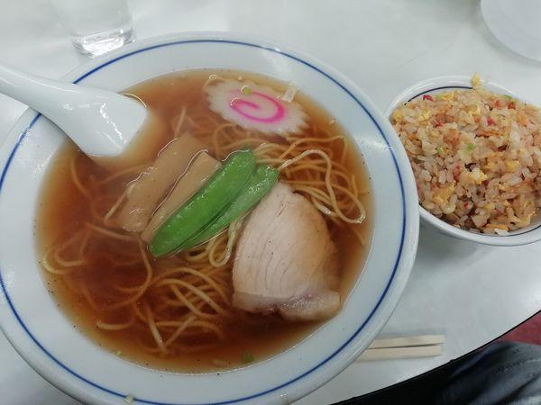 「ラーメン+半チャーハン」@中華料理タカノの写真