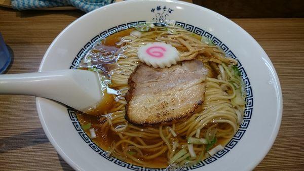 「中華そば 白 細麺(680円)」@中華そば 六感堂の写真