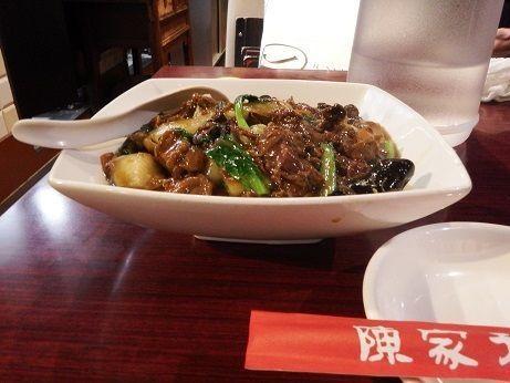 「カレー牛バラ刀削麵」@路地裏本格中華 陳家私菜 渋谷店の写真