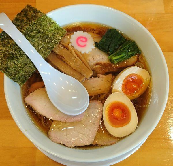 「焼豚麺+味玉」@白河手打中華そば 法隆の写真