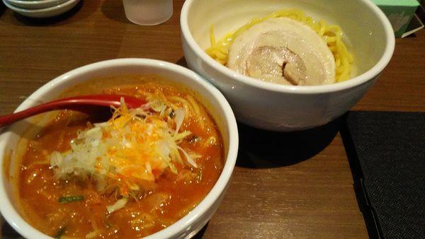 「[限定]辛いつけ麺」@らーめん 蓮の写真