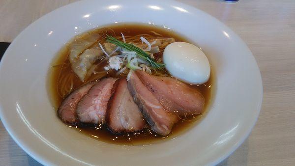 「特製中華そば 醤油」@宍道湖しじみ中華蕎麦 琥珀の写真