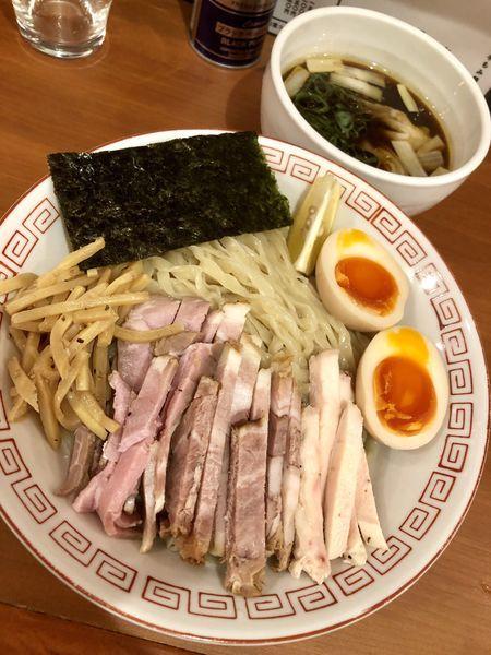 「【季節の限定】特製 淡麗つけ麺 醤油 大250g¥1150」@自家製手もみ麺 鈴ノ木の写真
