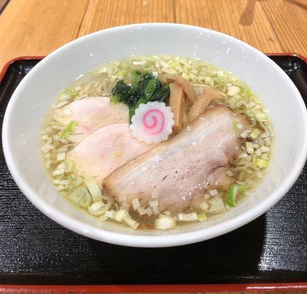 「「若武者」鶏中華そば (塩で) ¥730」@日本橋ふくしま館 MIDETTE ミデッテの写真