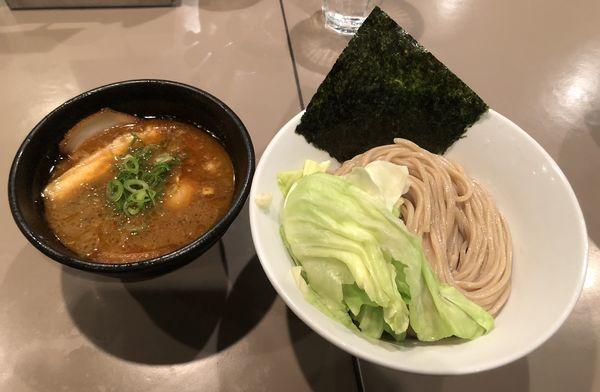 「海老つけ麺 味玉 肉増」@つけ麺 五ノ神製作所の写真