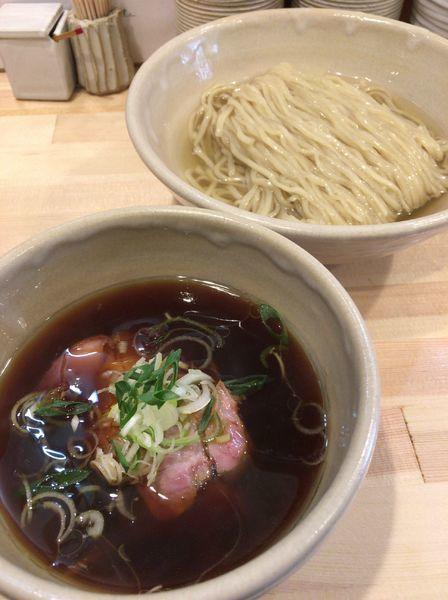 「鰹昆布出汁の醤油つけ麺 850円」@迂直の写真
