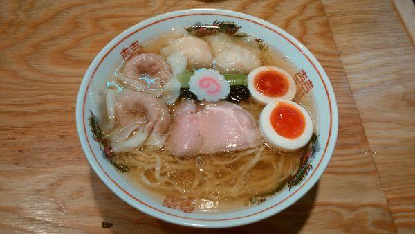 「味玉ワンタン麺(白だし)¥1140-」@キング製麺の写真