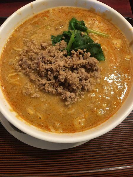 「タンタンメン ミニ中華丼」@花彫酒家の写真