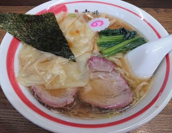 「ワンタン麺」@青竹平打ち中華そば 麺壱吉兆の写真