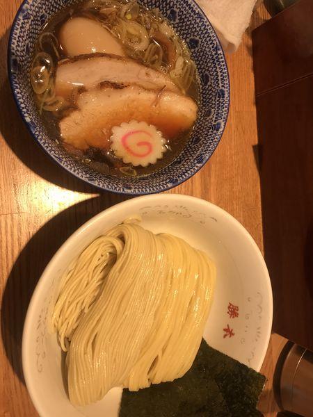 「特製清湯つけそば  1,030円」@神田 勝本の写真