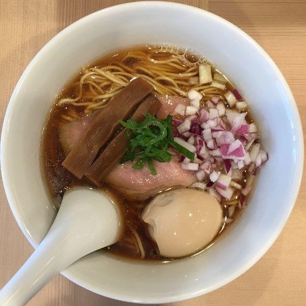 「味玉煮干しそば+替え玉」@麺亭しま田の写真