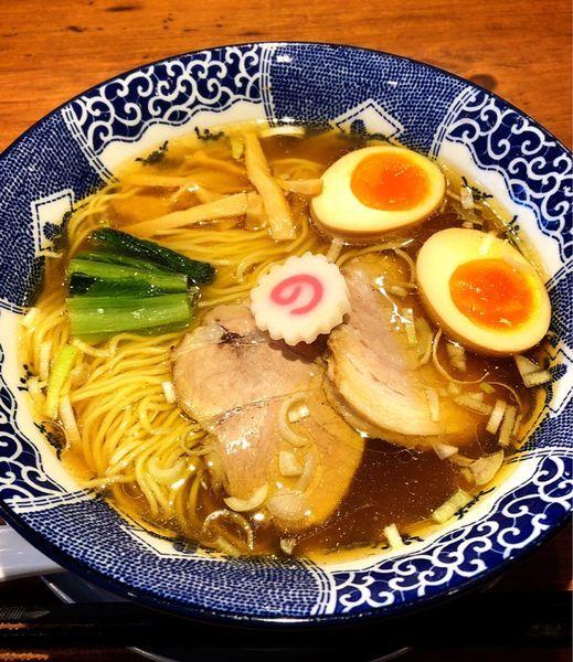 「清湯醤油らーめん(味玉)」@ハマカゼ拉麺店の写真