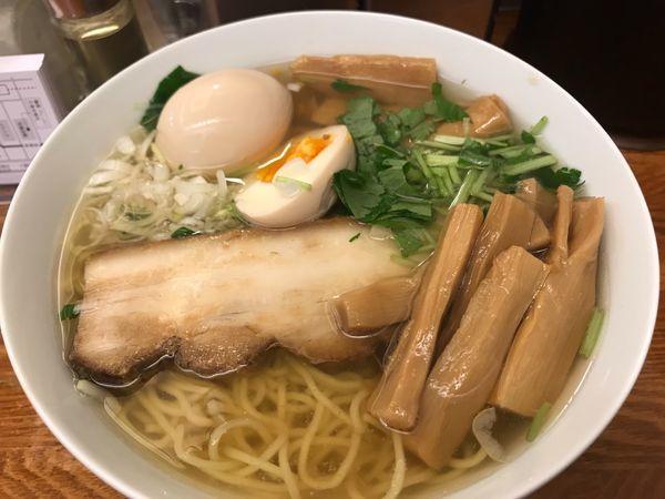 「和風柳麺+味玉+メンマ」@麺屋ひょっとこの写真