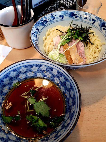 「山葵カキ氷割付き、和風淡麗つけ麺 900円」@㐂九八 ~garage~の写真