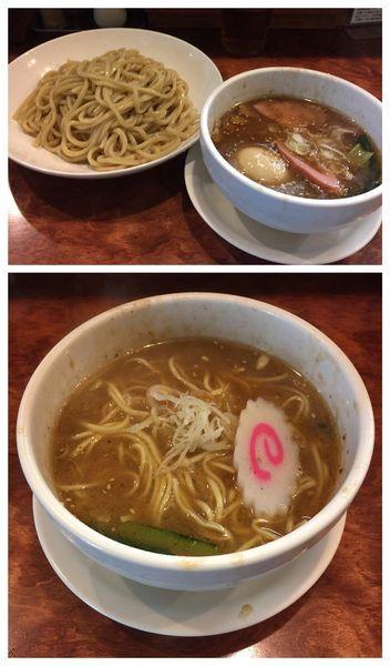 「冷やつけ麺&ラーメンセット+半熟味玉」@つけ麺 目黒屋の写真