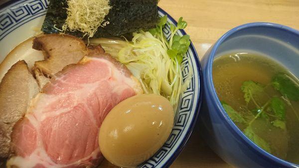 「昆布水のあっさりつけ麺 (塩)+中盛無料」@麺処 有彩の写真