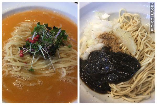 「【限定】鮭しぼりの冷やし+イカワタの和え玉」@弘明寺丿貫の写真