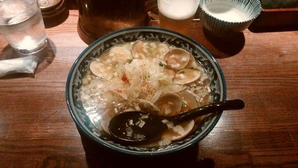 「はまぐりラーメン¥980-+生ビール」@和風楽麺 四代目 ひのでやの写真