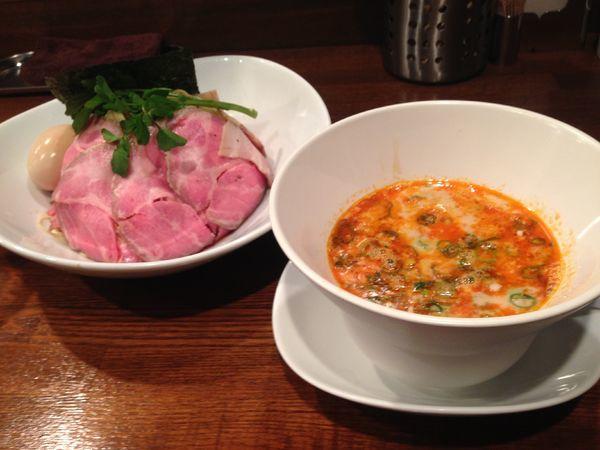 「坦々つけ麺+チャーシュー+味玉」@創作麺工房 鳴龍の写真