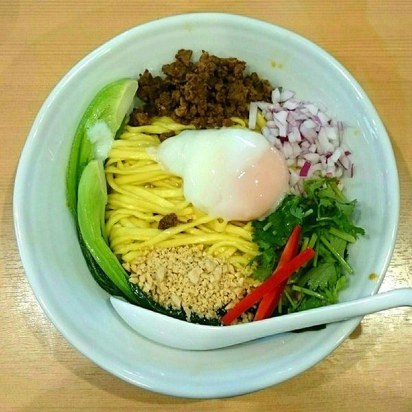 「汁なし担々麺【春期限定#3】 ガーリックもやし」@中華蕎麦 はるの写真