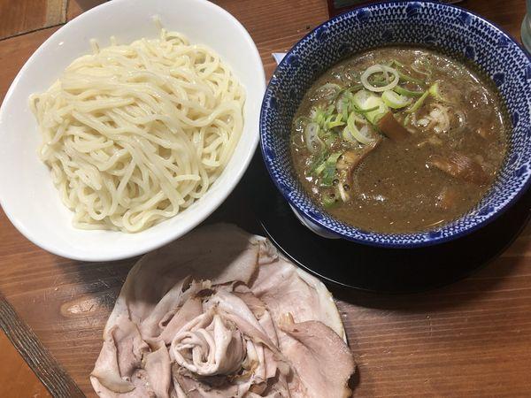 「コクつけ麺+大盛(無料)+花びら」@長尾中華そば 東京神田店の写真