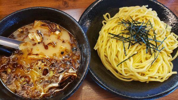 「まるきんつけ麺」@らーめん五衛門 浦安店の写真