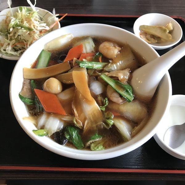 「五目タン麺定食(¥800)」@楽一 蒲田東口店の写真