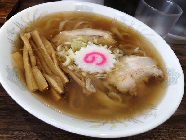 「らーめん+手作りジャンボ餃子3個」@佐野ラーメン しばちゃんの写真