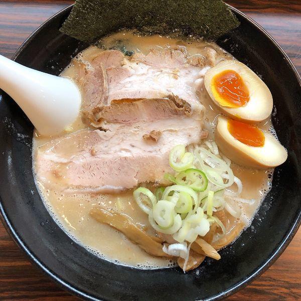 「味玉みそらーめん 大盛り 太麺」@ラーメン長山の写真