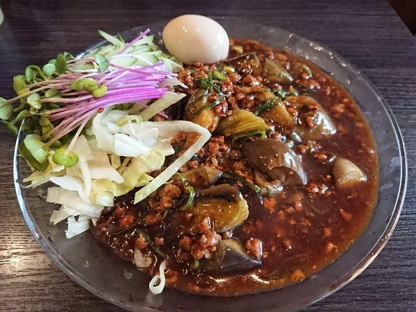 「【限定】茄子とひき肉のジャージャー麺850円+味玉 他」@中華蕎麦 瑞山(ZUIZAN)の写真