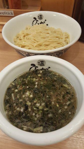 「塩つけ麺」@塩専門 ひるがお 東京駅店の写真