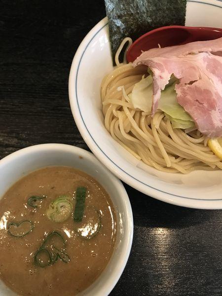「鶏白湯濃厚つけ麺、中」@雨ニモマケズの写真