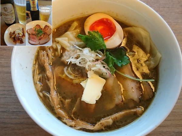 「特製三位一体(アワビの肝×サザエ×真鯛)¥1100」@中華そば 和渦 TOKYOの写真