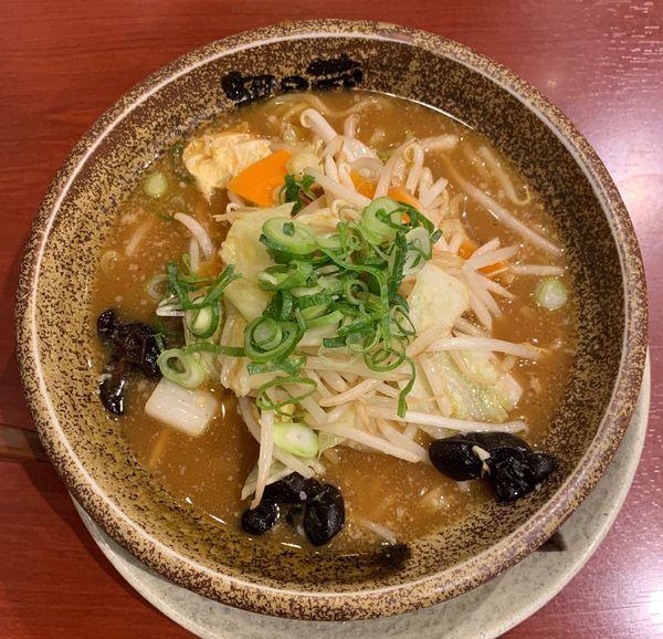 「野菜味噌らーめん」@越後秘蔵麺 無尽蔵 円町店の写真