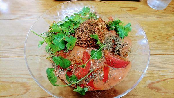 「【期間限定】冷しトマト担々麺+辛しびれ」@自家製麺 てんかの写真
