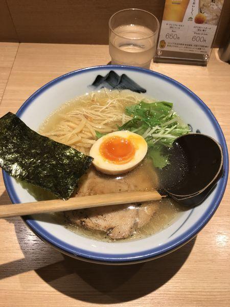 「柚子塩ラーメン」@AFURI 恵比寿の写真