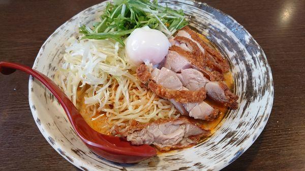 「ピリ辛冷製芝麻麺@890円」@なごみやの写真