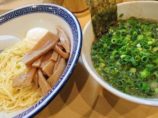 「つけ麺+ネギ,メンマ,玉子(920円)」@なかじまの写真