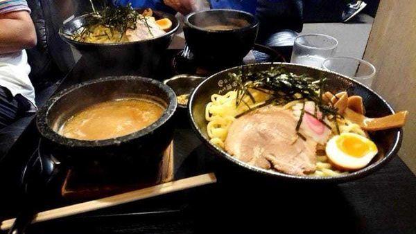 「石焼つけ麺 橙(味噌)大盛り(通常は800円)」@ら〜麺の創造 つけ麺岡崎の写真