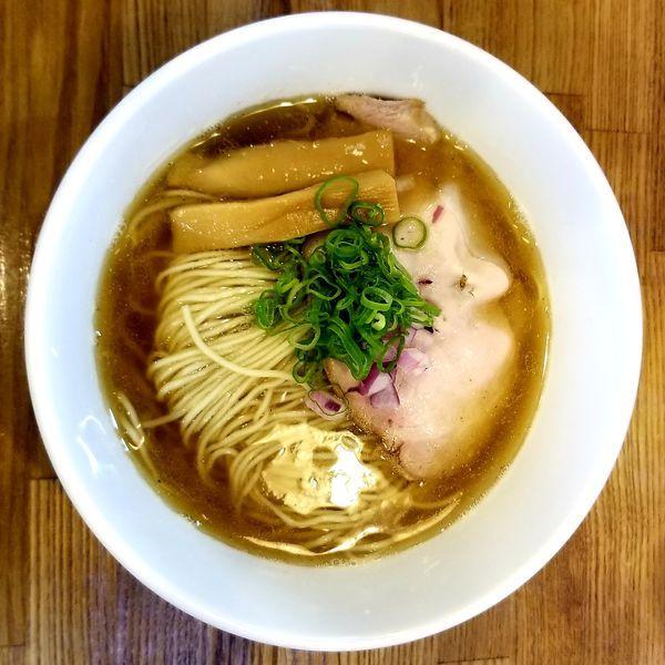 「煮干しそば(大盛)900円+すだちご飯」@中華蕎麦 さい藤の写真