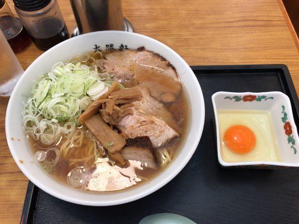 「らーめん ふつう(760円)+生玉子(50円)」@大勝軒 淵野辺店の写真